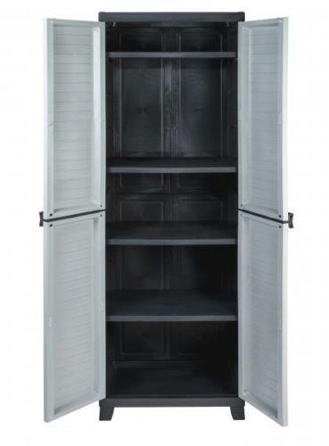 Hochwertiger Kunststoffschrank der ELITE-Serie mit 4 verstellbaren Einlegeböden mit je 20kg Tragkraft - Hohe Version