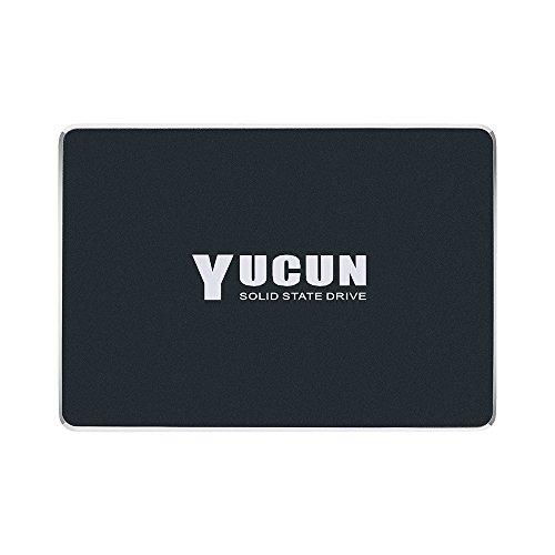 YUCUN 2,5 Pouces SATA III Disque Flash SSD 120 Go Interne Solid State Drive Grande Endurance Grande Vitesse jusqu'à 510 Mo/s