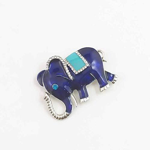 zoyolo Stilvolle Neue Elefant Tropfen Öl Verkrustet Weihnachten Brosche Kragen Weihnachtskollektion blau -