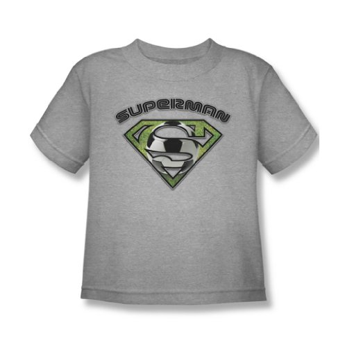 Superman - Fussball Shield Juvy T-Shirt in Heather, Large (7), Heather (Heather Juvy T-shirt)