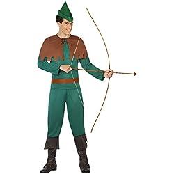 Atosa-31552 Disfraz Hombre Arquero, Color Verde, XS-S (31552)