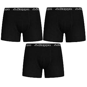 Kappa Calzoncillos de Boxer Pantalones Cortos Negro M L XL XXL 3, 6, 9Packs–Hombres De Ropa Interior
