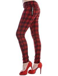 Amazon.fr   pantalon ecossais femme - Rouge   Femme   Vêtements 3aa134965d6