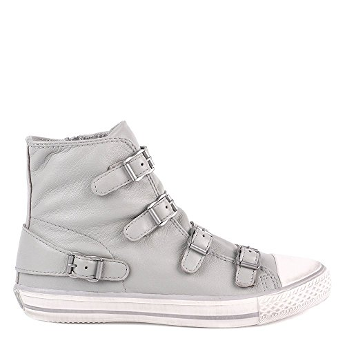 Ash VIRGIN Buckle Trainers Marble Grey Leather 41 Marble
