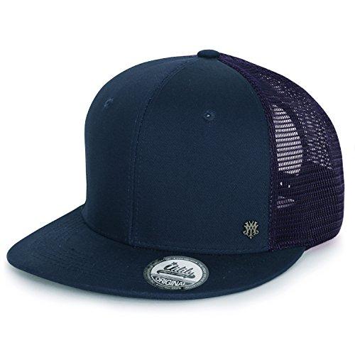 Cord-mesh Back Cap (ililily Extragröße kräftige Farbe New Era Style Snapback Baseball Cap (X-Large, Dark Blue))