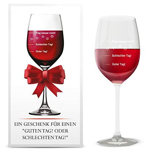 Weinglas | Guter Tag!, Schlechter Tag! - Frag besser nicht! | Premiumglas | Rotweinglas Weißweinglas | XXL 410ml von Wine4you l Geschenkidee