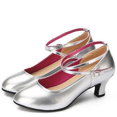 Chaussures De Danse-non-personnalisable-womens-latin-american Dance-square-faux Cuir-noir Rouge Argent Doré Rouge