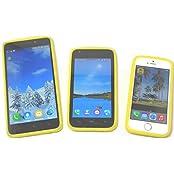 PRESKIN – Silikon Case Cover Bumper, Universal Schutz-Hülle für alle Smartphones 4.0 bis 5.7 '' Zoll Display, mehr Grip und Schutz, Glow in the Dark Frame, stoßabsorbierender Silikon-Rahmen mit Leucht-Effekt