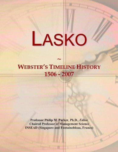 Lasko: Webster's Timeline History, 1506 - 2007