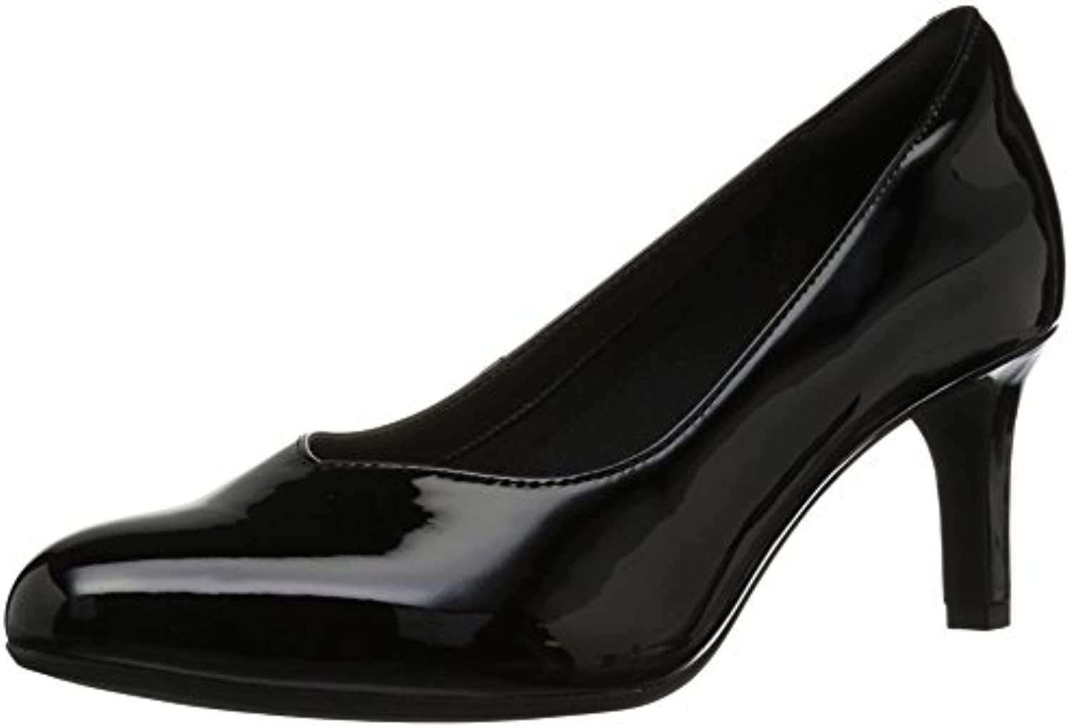 Clarks Wouomo Dancer Dancer Dancer Nolin Pump, nero Synthetic Patent, 090 M US | economia