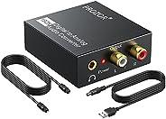 PROZOR 192KHz Digital to Analog Audio Converter DAC Digital SPDIF Optical to Analog L/R RCA Converter Toslink
