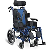 Children's Folding Wheelchair Manual Wheel Chair Pediatric Cerebral Palsy