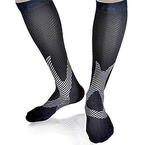 Gimitunus Bequem und leicht Langes Rohr Rutschfeste Laufreisen für Outdoor-Aktivitäten Compression Socks – Boost Stamina, Circulation