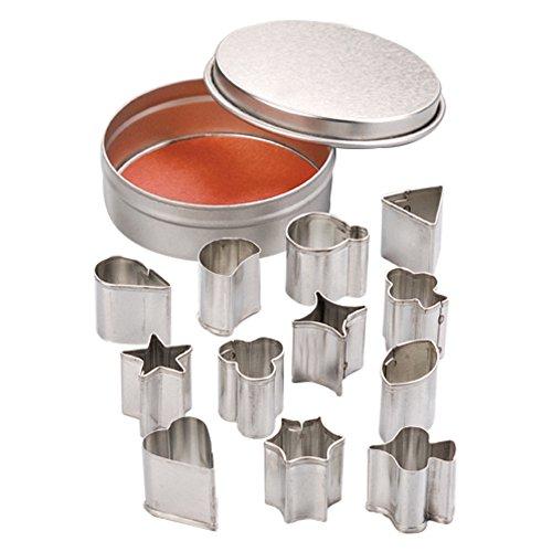 Efco Assortiment de Emporte-Pièces, en métal, Argent, Mini, 6,5/1,9–2,1 cm, Lot DE 13