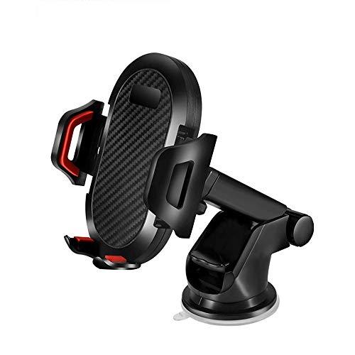 JUMKEET Supporto per Telefono Cellulare da Auto, Regolabile Supporto Auto Smartphone con Cuscinetto in Gel Adesivo, Supporto per Parabrezza Compatibile with iPhoneXS Max XR X/Samsung/Huawei (Red)