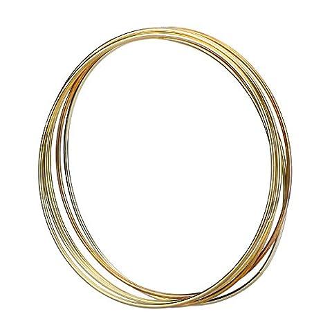eBoot 5 Stück Golden Metall Ringe Hoops Makramee Ringe für Traumfänger und Kunsthandwerk, 6 Zoll