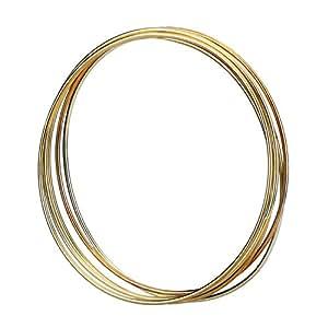 5 Stück Golden Metall Ringe Hoops Makramee Ringe für Traumfänger und Kunsthandwerk, 6 Zoll