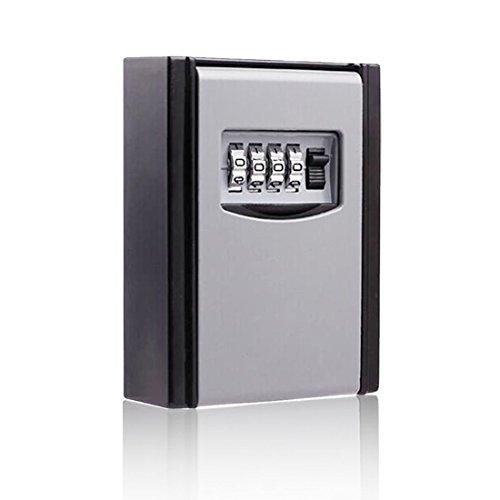 Sichere Lagerung Lock Box, sunreal Wandhalterung Key Lock Box, Code Aufbewahrungstasche, Cipher Lock Box mit 4-Kombination für Home Office Teilen Schlüssel (Lock-box Wandhalterung Für Schlüssel,)