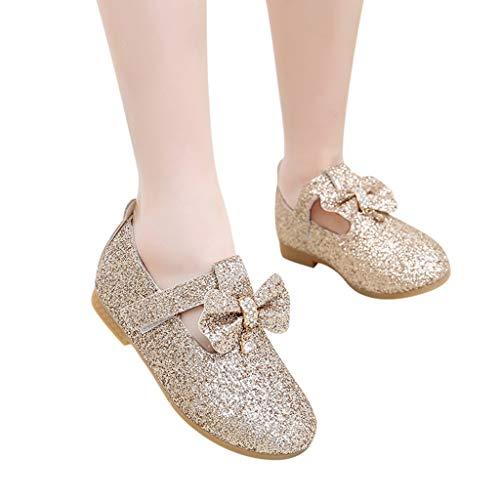 JUSTSELL ▾ Mädchen Schuhe , Mädchen Mary Jane Halbschuhe Blumenbogen Mit Schnalle Prinzessin Schuhe Glitter Pailletten Prinzessin Kleid Party Tanzschuhe Einzelne Schuhe