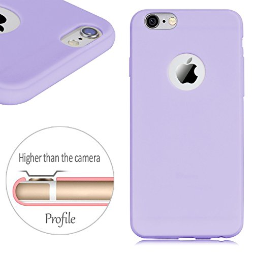 iPhone 6 Plus Hülle , iPhone 6 Plus / 6S Plus Schutzhülle , E-Lush TPU Einfarbig Handytasche für Apple iPhone 6 Plus / 6S Plus (5.5 Zoll) Weiche Flexible Silikon Kratzfeste Handyhülle Ultra Chic Dünn  Lila