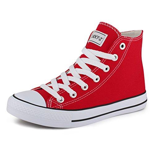 best-boots Neu Unisex Turnschuh Sneaker Damen Herren Slipper Halbschuhe Sportlich Chunkyrayan BenkeyB BBN-CA014/CB019 Red-43 (Sportliche Sneakers)