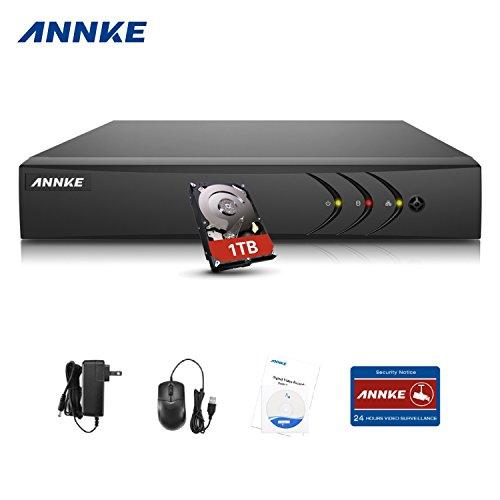 Annke TVI 1080P 8 Canali Network Digital Video Recorder Video Sorveglianza Videoregistratore CCTV DVR/HVR/NVR di Sicurezza del Sistema HDMI P2P con 1T Surveillance Hard Disk