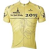 Paladin Sport Men's Summer Riding Short Sleeve Outdoor Cycling Jersey Shirt--Yellow Tour de France Pattern