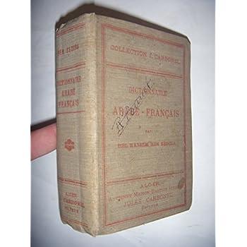 Droit: Carbonel: Dictionnaire arabe-français, 1924, BE
