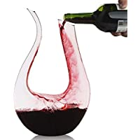 Décanteur, Smaier 1.2L Carafe de Décantation Classique Aérateur de vin,Accessoires du Vin, Cadeaux(1200ML)