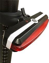 Awnic Luz Trasera USB Recargable para Bicicleta Piloto Trasero LED 26 Chips LED Rojo 6 Modos Impermeable Adecuado Para Casco y Bici, etc