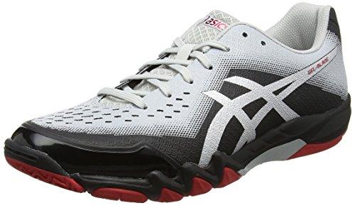 ASICS Herren Gel-Blade 6 R703N-9093 Sneaker, Mehrfarbig (Black,Grey 001), 46.5 EU
