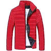 Hellowarm Otoño Invierno Hombres Chaqueta de algodón al Aire Libre a Prueba de Viento Abrigos Impermeables