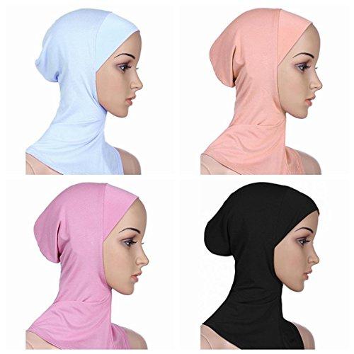 BaiTe Islamisch Stil Kopftuch Hijab kopftücher Leicht Unter Schal Knochen Bonnet 4 pcs