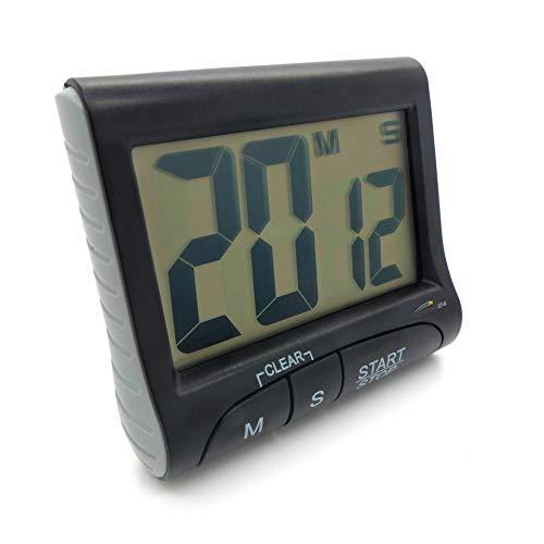 Starlet24 Digitale Eieruhr Küchentimer mit Timer- und Stopp-Uhr-Funktion inkl. 4in1-Clip Kurzzeitmesser Schwarz