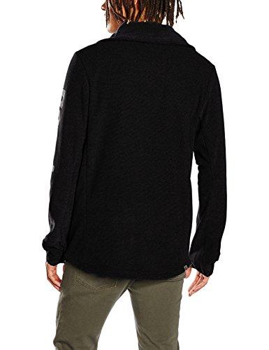 Bench Herren Sport Pullover Bmea2778 Schwarz (Jet Black BK014)