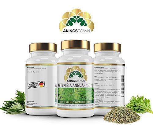 Akingstown | Artemisia Annua | 450mg pro Tagesdosis | 125 Kapseln | 30:1 Beifußextrakt | artemisinin | Vegan | Hochdosiert | Made in Germany -