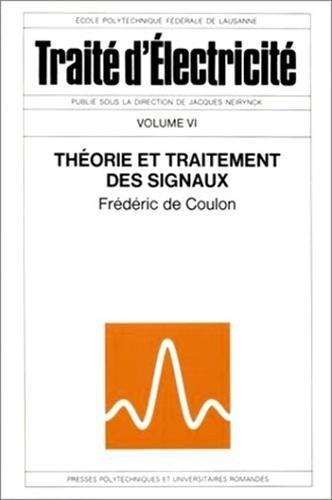 Théorie et traitement des signaux par De Coulon