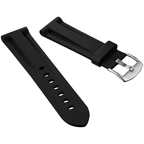 black-italian-diver-style-pu-rubber-watch-strap-zuludiver-brushed-buckle-24mm
