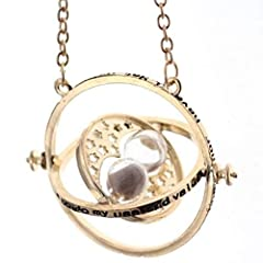Idea Regalo - PIERRETOILES Collana Clessidra retourneur di Tempo Hermione in Harry Potter … (Dorato)