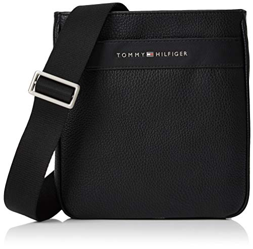 Tommy Hilfiger Herren Th Business Mini Crossover Geldbörse, Schwarz (Black), 1x1x1 cm