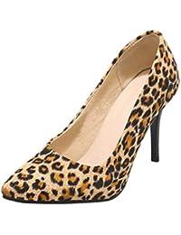 Vitalo Donna Scarpe Decolte Eleganti Leopardate a Punta Colorate Slip on  con Alto Tacco a Spillo cd078074d09