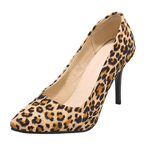 Coolulu Mujer Zapatos Tacón Alto Aguja Puntiagudo