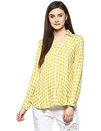 TAURUS Women's Viscose Lemon Checkmate Shirt