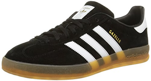 adidas Herren Gazelle Indoor Low-Top Schwarz (Core Black/FTWR White/Gum 2) 41 1/3 EU -