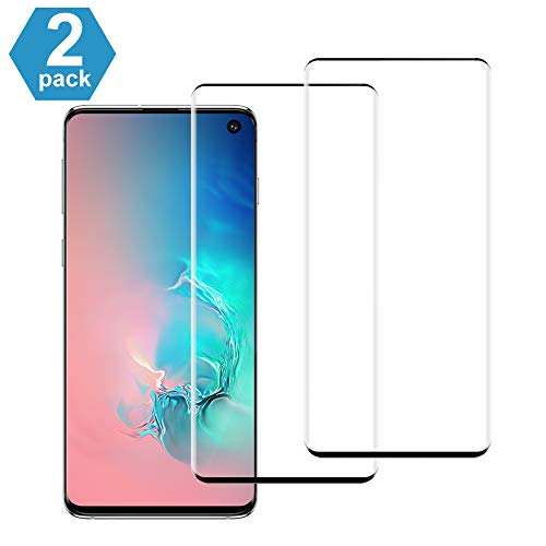 WUXIAN Tempered Glass Screen Protector for Galaxy S10 [2-Pack], Anti Explosion Scratch Resist Bubble Free Tempered Glass Screen Protector for Samsung S10