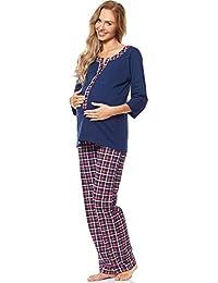 Be Mammy Premamá Pijama Dos Piezas Lactancia Ropa de Cama Maternidad Mujer 1N2TT2
