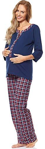 Be mammy pigiama premaman con funzione allattamento 1n2tt2 (blu scuro, s)