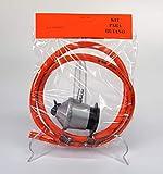 Sanfor 05114 Kit regulador de Gas butano + Goma 1,5metros y Dos Abrazaderas metálicas, Plateado/Naranja, Talla única