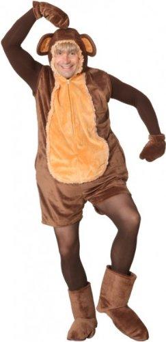 Affe : Overall, Handschuhe und Fußstulpen, Erwachsenen-Größe:54 - 58
