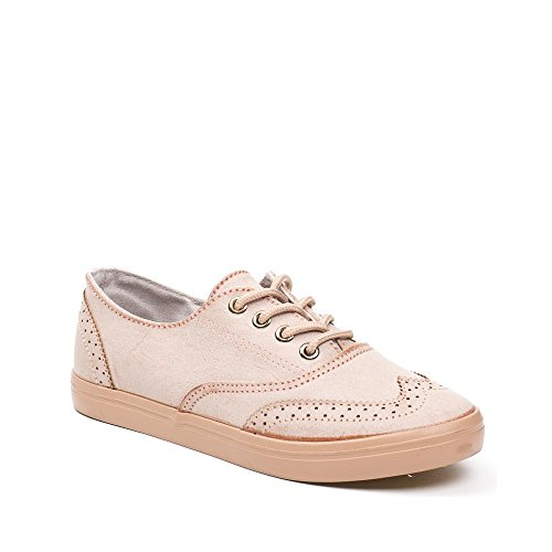 Ideal Shoes, Damen Sneaker Camel